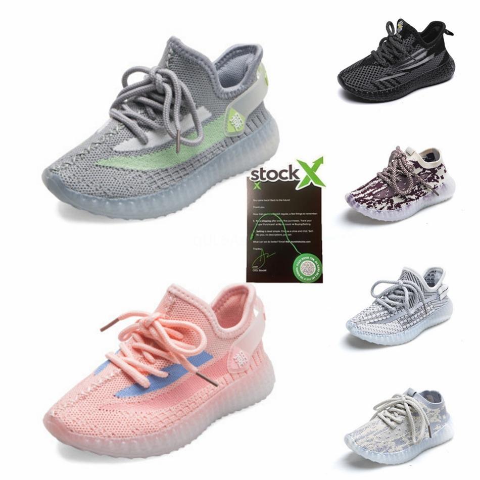 Baby-Kinderschuhe Kanye West Zebra Laufschuhe 2020 Kinder Sport Beluga 2.0 Sport Sneakers schwarz silbernen goldenen 28-35 # 710