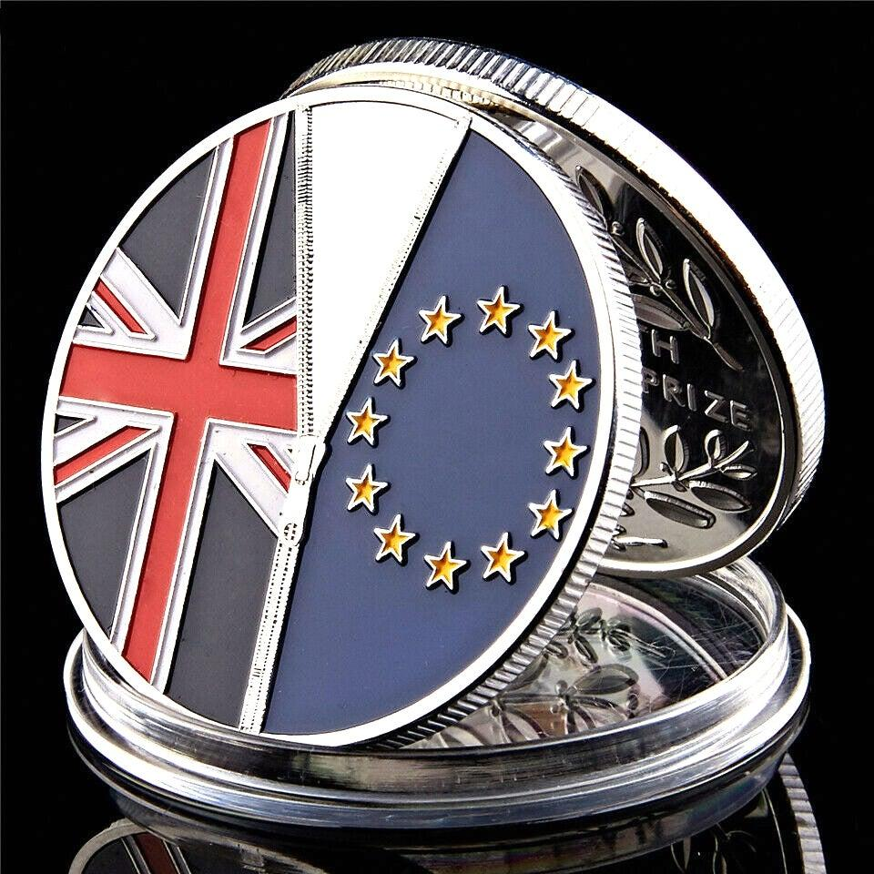 Silver Plated Collection Coin UK Withdrew From European Union In 2016 Coin Decoration
