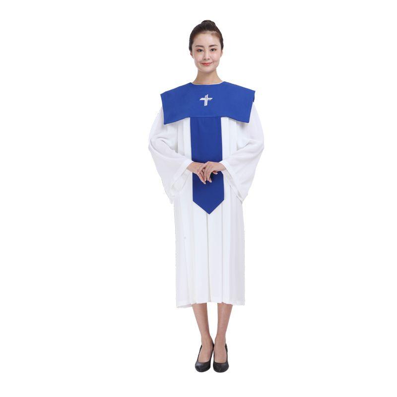 Christian Poesía Bata el Señor Traje Traje de la iglesia Iglesia cristiana vestido de coro Mujer Clero túnicas Servicio de clase de poesía