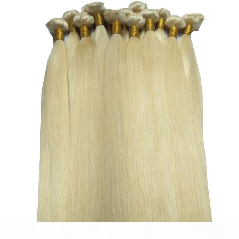 Grade 8A 613 Loiro Cor Silk Hetero Virgin Cabelo Malásia% cabelo humano 50g um pacote de 250g de um lote, derramamento 100 livre