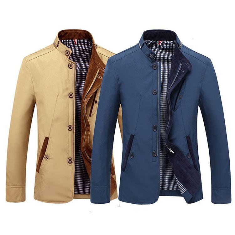 Costume de veste pour hommes printemps et en automne Veste Veste mince Slim hiver Outwear Mode Vêtements d'affaires
