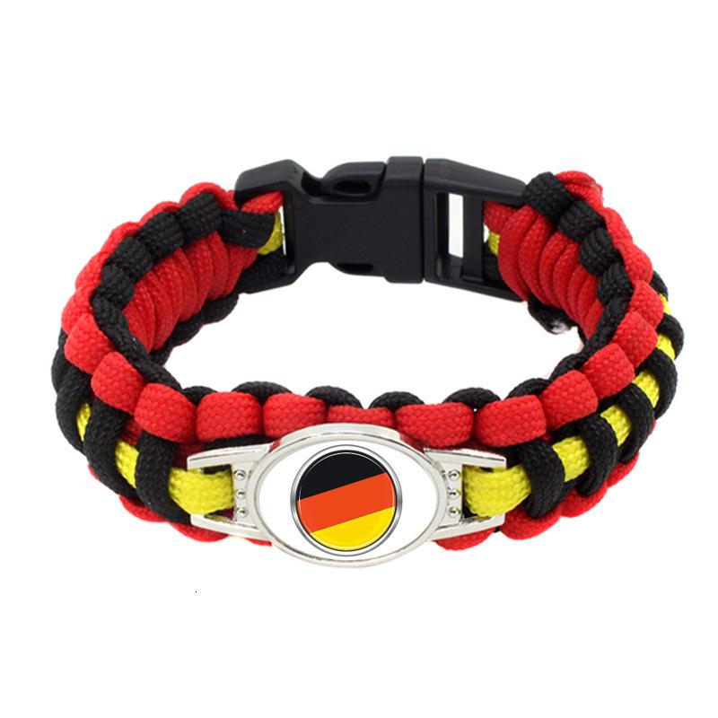 20pc Belgium Germany Flag Paracord Survival Outdoor Camping Bracelets For Women Men Girls Friendship Rope 550 7 Bracelet Jewelry
