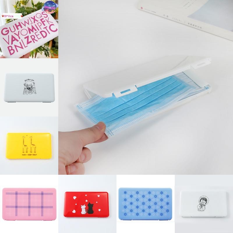 Free DHL Travel Portable Rectangle Face Mask Box Protective Dustproof Face Masks Case Disposable Mouth Face Cover Storage Organizer B56F