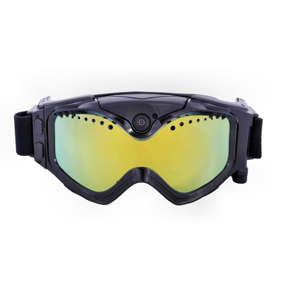 1080P HD Ski-Sunglass Goggles WIFI Camera &Colorful Double Anti-Fog Lens for Ski with Free APP Live Image Video Monitoring & Recording