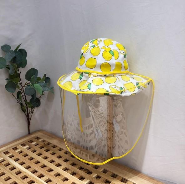 Dust and antifoam children's hat 2020 spring and summer new fisherman's hat lemon detachable