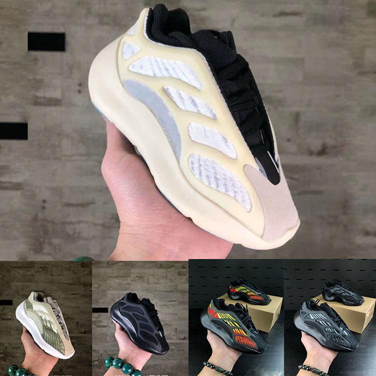 Nuevos Alvah infantes para niños de los zapatos corrientes niñas zapatilla de deporte de los niños los niños pequeños Azael Negro Kanye West Kids ADIDAS BOOST 700 V3