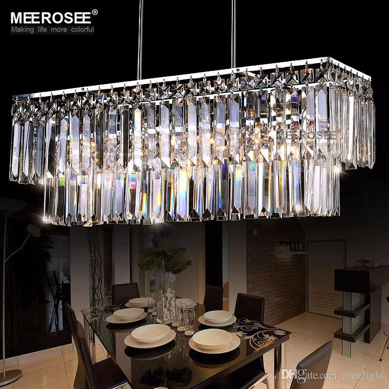 Crystal Modern Chandelier Light Fitting Rectangle Hanging Lamp Chandelier in the Living Room Dining room Lustres Home Lighting Luminaire