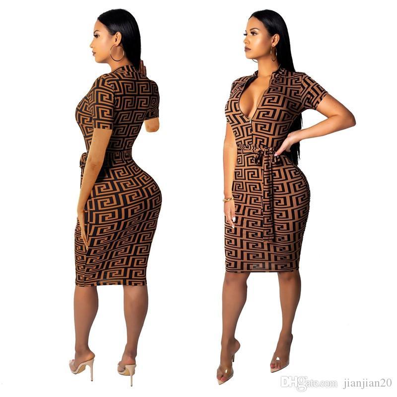 SMR9057 мода 19 взрыв модели Европа и Соединенные Штаты горячая горячая V-образным вырезом тонкий сексуальный с короткими рукавами женское платье 80511920