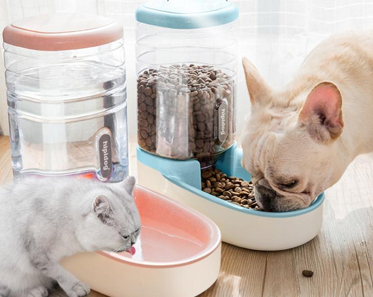 أحدث 3.8L الحيوانات الأليفة التلقائي التلقائي القط الكلب القط التلقائي السيرة الكلب وعاء القط حوض تغذية المياه مزيج دلو تخزين