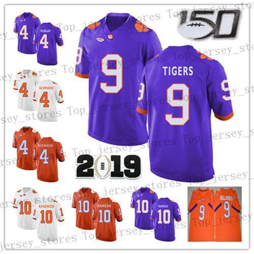 2019 NCAA Clemson Tigers White Purple Orange 4 Deshaun Watson 9 Wayne Gallman II 10 Ben BOULWARE Sammy Watkins College Football Jerseys