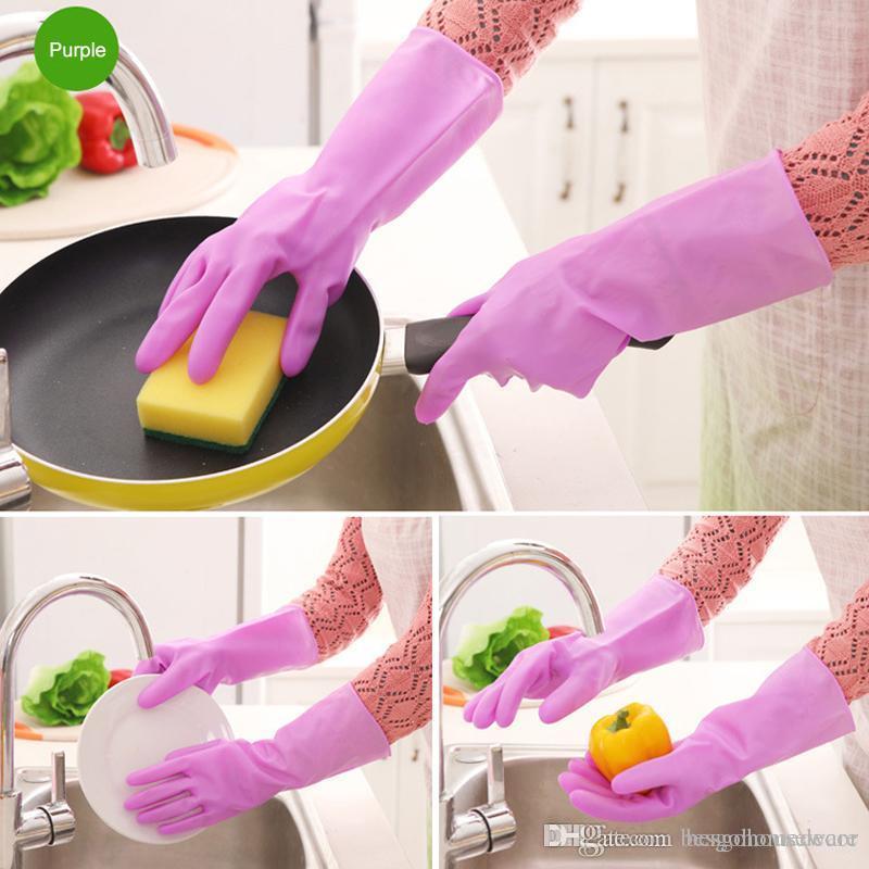Corvées de cuisine gros gants propres gants imperméables PVC durables vaisselles ménagers manches longues Gants de lavage laver la vaisselle BC BH0619