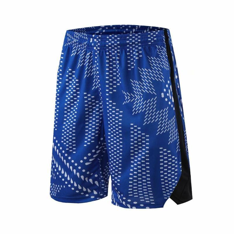 2020 Men Running Shorts Quick Dry Fitness Sport Shorts with Pocket Training Marathon Gym Printing Basketball Short Pants Jogger