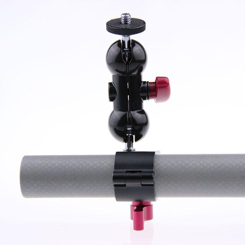 Rod Clamp+ 14 Hot Shoe Adapter 360 Rotating Monitor Mount for DSLR Camera DJI Ronin-M Handheld Gimbal LED Flash Light C1169 (6)