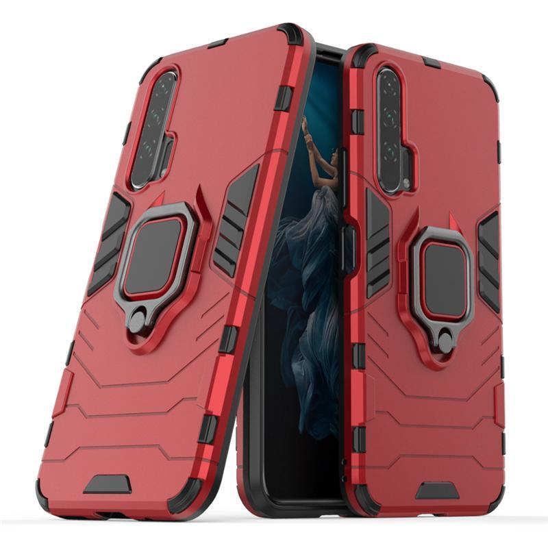 Für Huawei Honor 20 Pro Lite 20i 10 Lite-Kasten-Telefon-Abdeckung 360 Rotating Ring Ständer Auto Magnetfuß Abdeckungs-Fall des neuen Entwurfs Black Panther