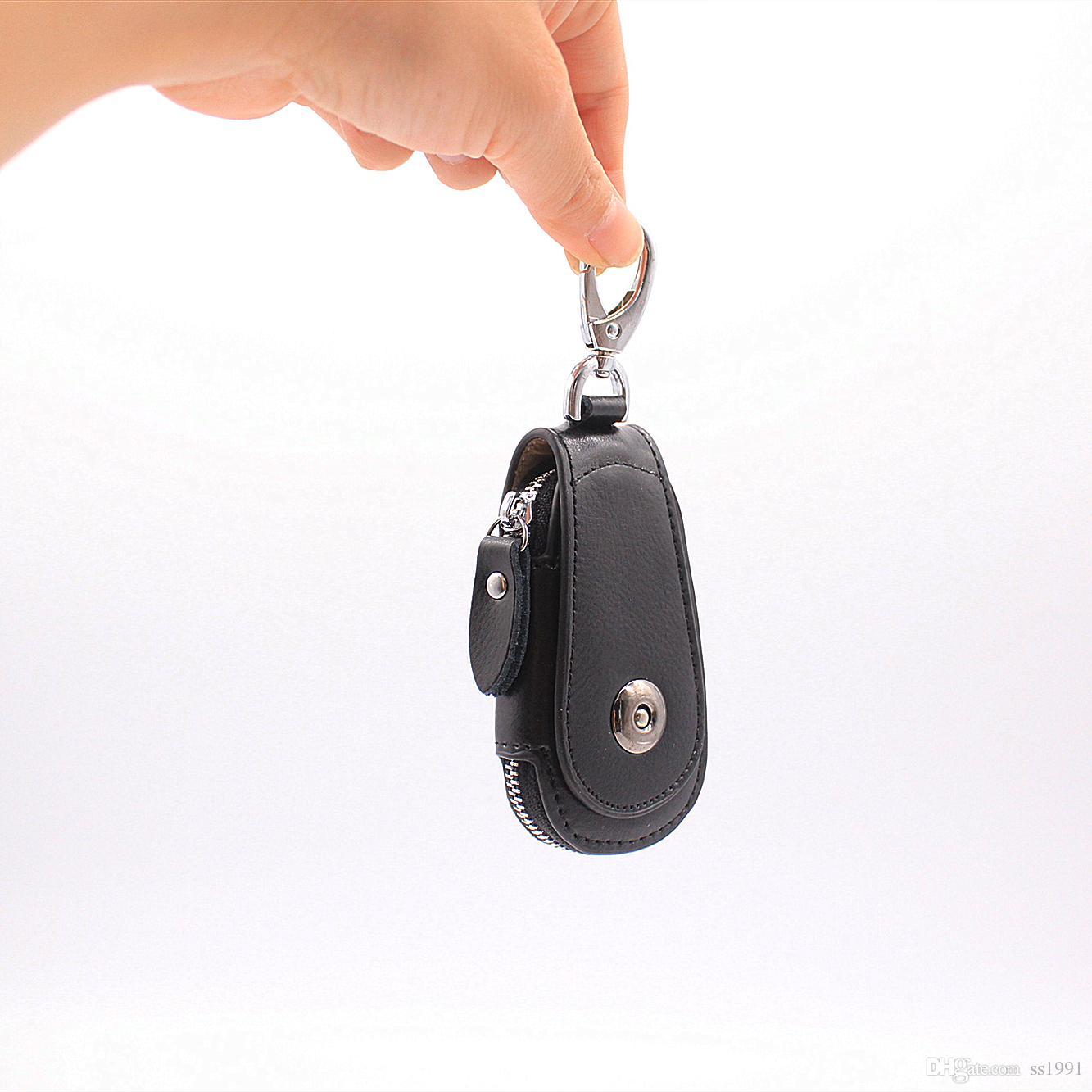 New Women/'s Men/'s Leather Key Holder Wallets Bag Car Keys Chain Purse