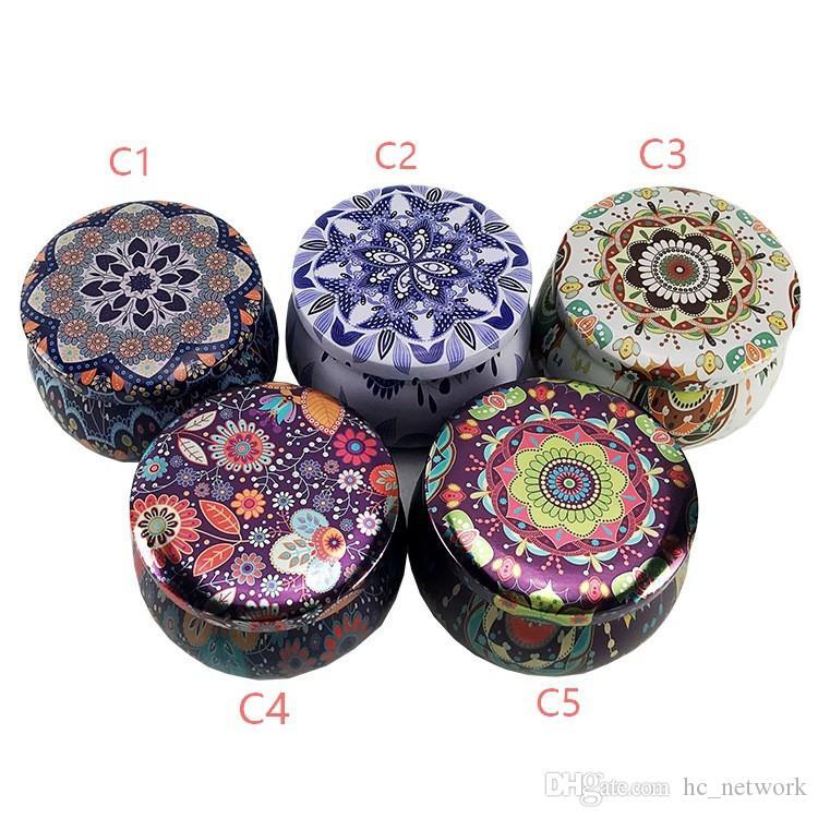 en forma de tambor Tea Pot caja de la lata Inicio Jardín Personalidad caja del caramelo de la caja de caramelo galleta de la caja hecha a mano de la vela del jabón tarro de embalaje