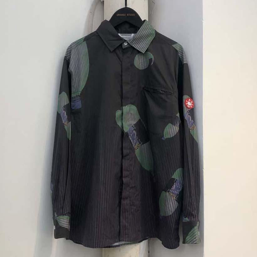 Cav Empt Shirt رفض طوق القطن الرجال النساء الكولا طباعة القمصان عارضة CE Cav Empt Shirt Single Breasted