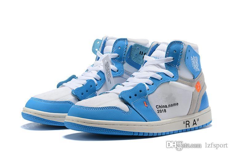 2019 newS venda 1 OG Tênis De Basquete Jogo Real Proibido Sombra Produzido Vermelho Azul Toe barato Homens 1 s Quebrado Backboard Retro Sneakers lzfsport