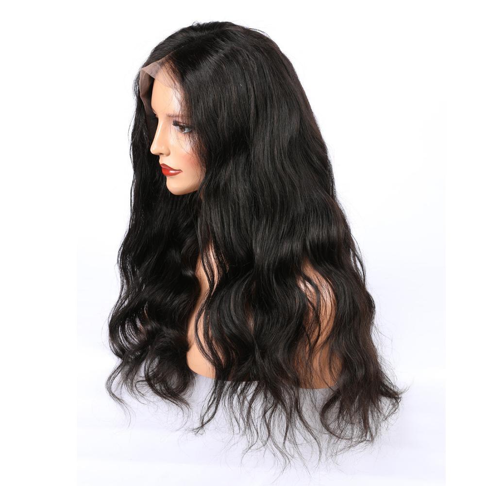 Onda allentata parrucche dei capelli umani del brasiliano di 100% per le parrucche remy dei capelli delle donne nere con i capelli del bambino colore naturale di densità 150