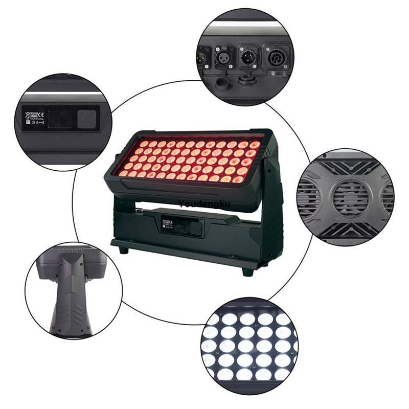 4pcs Outdoor Led Garden Lights Waterproof 10w Led Wall Washer City Color 60 Led Rgbw Colour Wall Washer Spot Projector