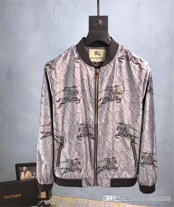 Новая высококачественная европейская куртка для осени и зимы, роскошная линия моды для мужской одежды, размер M~3XL#1014