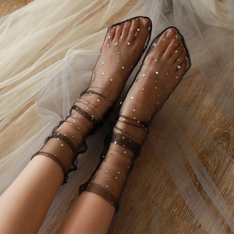 Sexy sexy underwear gauze transparent heap black foot uniform temptation cute Silk silk stockings underwear stockings passion socks