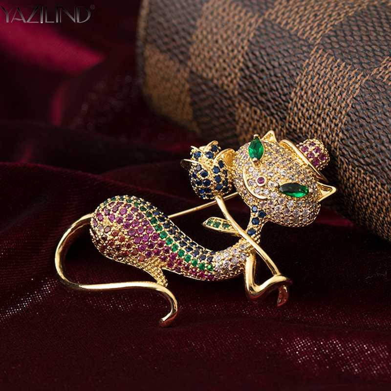 YAZILIND Rhinestone Shape Lip Brooches Alloy Pin Exquisite Jewelry Gift for Women