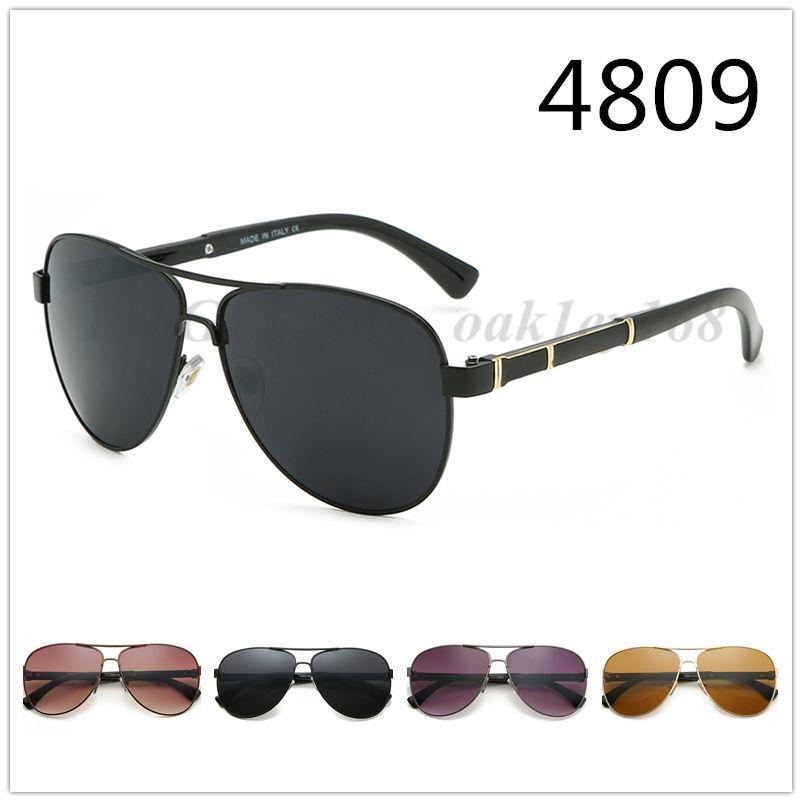 جديد أزياء الرجال الكلاسيكية خمر معدن نظارات شمس 4809 العلامة التجارية مصمم النظارات الرجال النساء الرياضة الدراجات outdoor ماركة نظارات شمسية