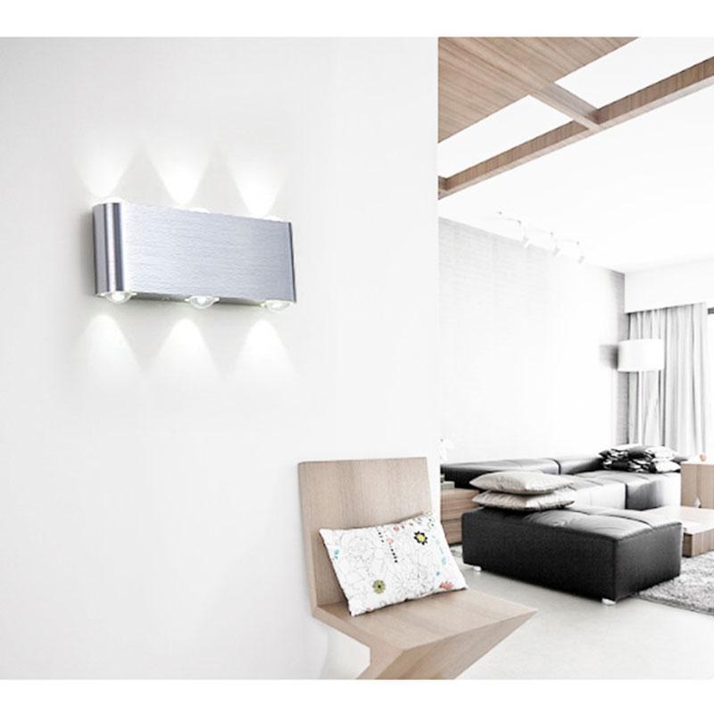Moderna Lámpara de pared LED 2W 4W 6W 8W moderna aplique escalera impermeable de la luz nórdica moderna cubierta ligera de la pared principal Pasillo del pórtico de iluminación