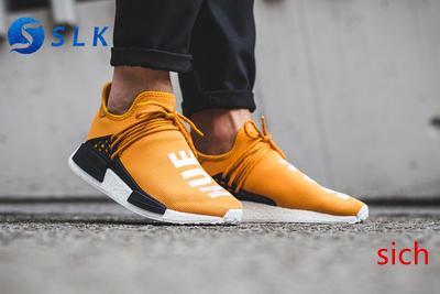 Traderjoes con la raza humana zapatillas de deporte para hombre y para mujer de los zapatos corrientes de deportes de los hombres zapatos de color amarillo Negro Hu Oreo