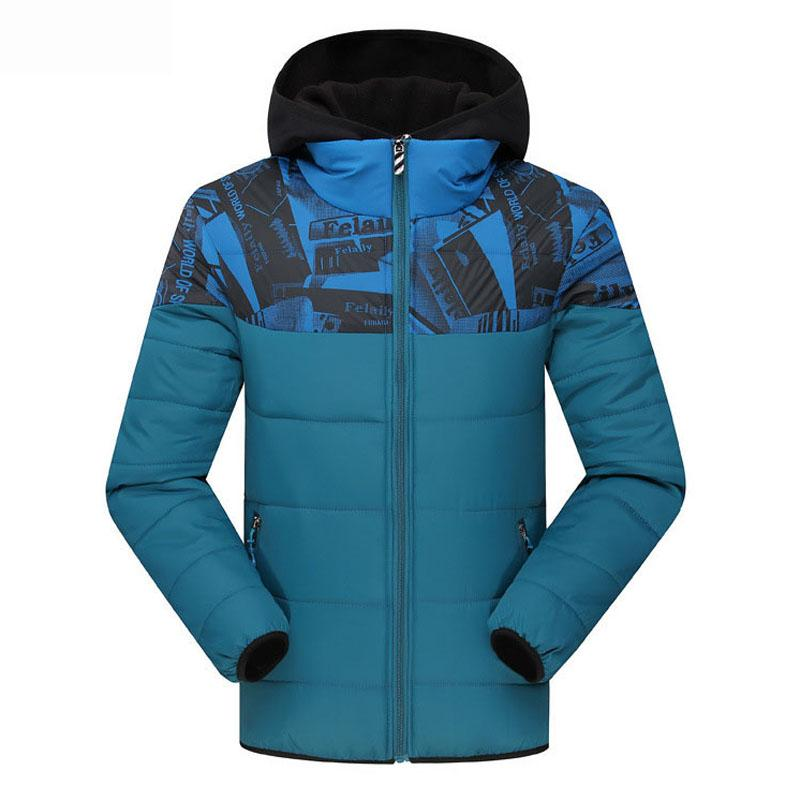 Winter Jacket Men New Quilted Men Jacket Hooded Cotton Padded Coat Warm Parka Stand Collar Long Sleeve Outwear