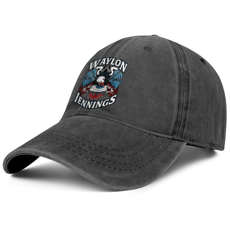 Waylon Jennings Lonesome On'ry e mens e donne medi berretto da baseball denim disegno montato campi originaldesign i propri cappelli d'epoca copertina