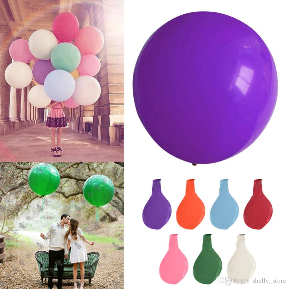 36 inch Colorful Big Latex Balloons Helium Inflable Blow Up Giant Balloon Wedding Birthday Party Large Balloon Decoration