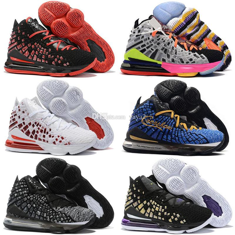2020 nouveaux lebron 17 hommes enfants chaussures de basket-ball blanc noir Université Future marine violet rouge formateur respirant espadrilles de sport d'athlétisme