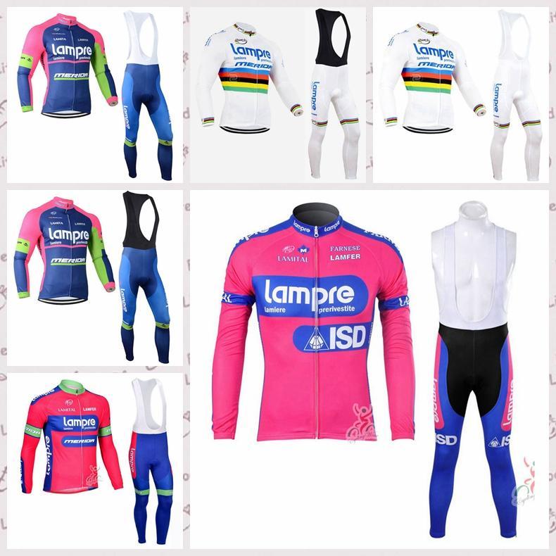 Lampre ciclismo mangas largas camiseta de los pantalones del babero conjuntos de 2020 hombres en bicicleta de montaña y transpirable de secado rápido compite con la ropa C620-23