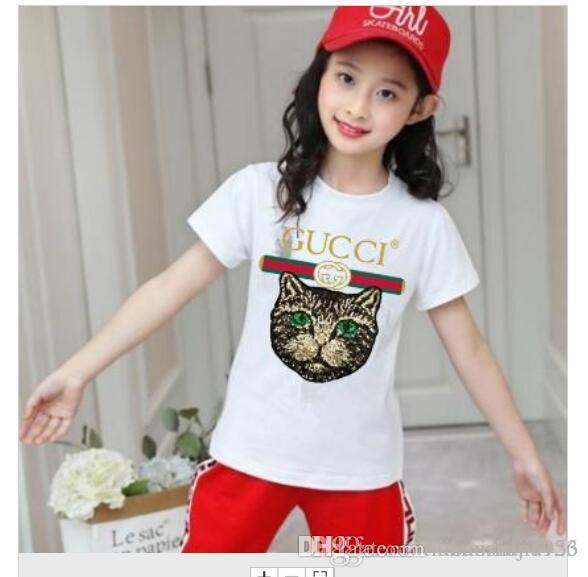 бренд дизайнер бренда 2-9 лет детские мальчики девочки футболки 2019 летняя рубашка топы хлопок дети тройники детская одежда 2 цвета
