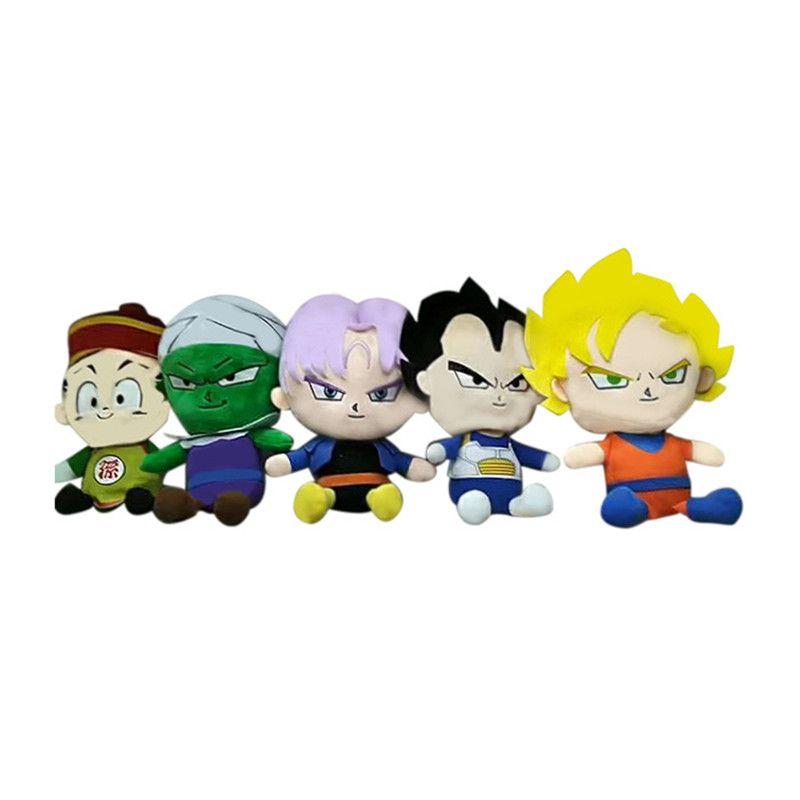 Dragon Ball Z en peluche Jouets Poupée Cartoon Piccolo Vegeta Super Saiyan Goku Torankusu Poupées en peluche douce en peluche Collection enfants Décoration