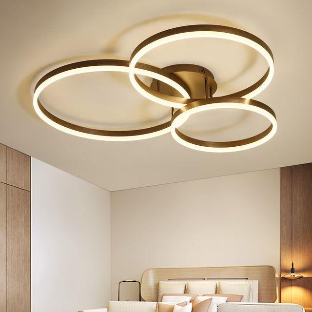 Yaratıcı Modern Çember Yüzükler LED Tavan Işıkları Oturma Odası Yatak Odası Yemek Odası Lamparas De Techo Tavan Lambası FixTures110v `260`