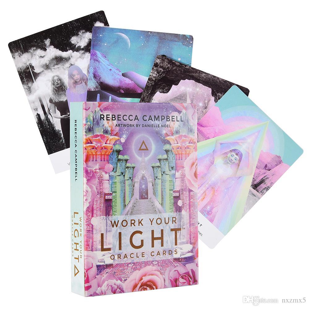 العمل الضوء بطاقات أوراكل لديك 44 جميل الطابق بطاقات أوراكل لعبة الإرشاد التكهن إعادة الاتصال مع روحك