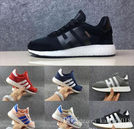 2020 Top Quality Trainers Original Iniki Runner Running Shoes For Men Women Black White Iniki Runner Sport Sneakers Size 36-45