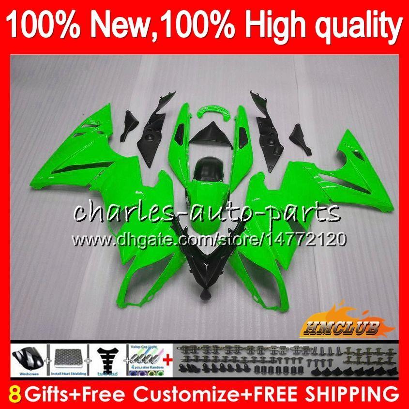 Body +8Gifts For KAWASAKI 650R ER 6 F 650 ER6F 09 10 11 57HC.19 glossy green 650 R ER6 F ER 6F 650-R ER-6F 2009 2010 2011 Full Fairing Kit