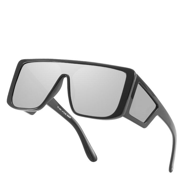 Siamois Lunettes de soleil Big Frame lunettes de soleil pour hommes Lunettes de soleil Big Frame Siamois Marque Brand Designer Hommes HD Lens livraison gratuite
