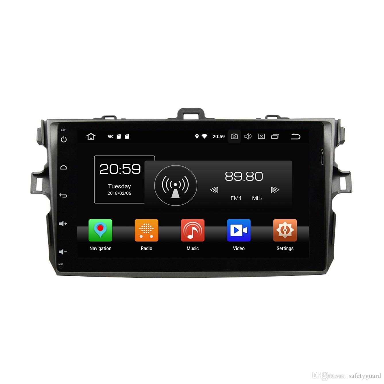 "Octa Core 9"" Android 8.0 Car DVD Head unit for Toyota Corolla 2006 2007 2008 2009 2010 2011 RDS Radio GPS WIFI Bluetooth 4GB RAM 32GB ROM"