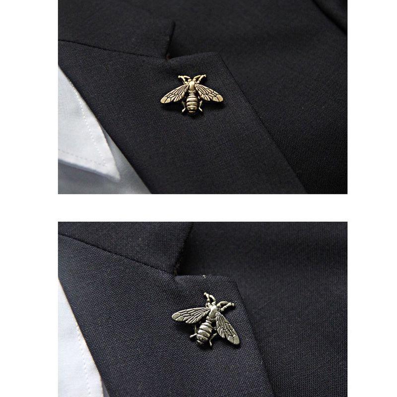 Metal Vintage Arı Broş Kadın Erkek Böcek Arı Broş Takım Yaka Pin Gömlek Aksesuarları Toptan Fiyat