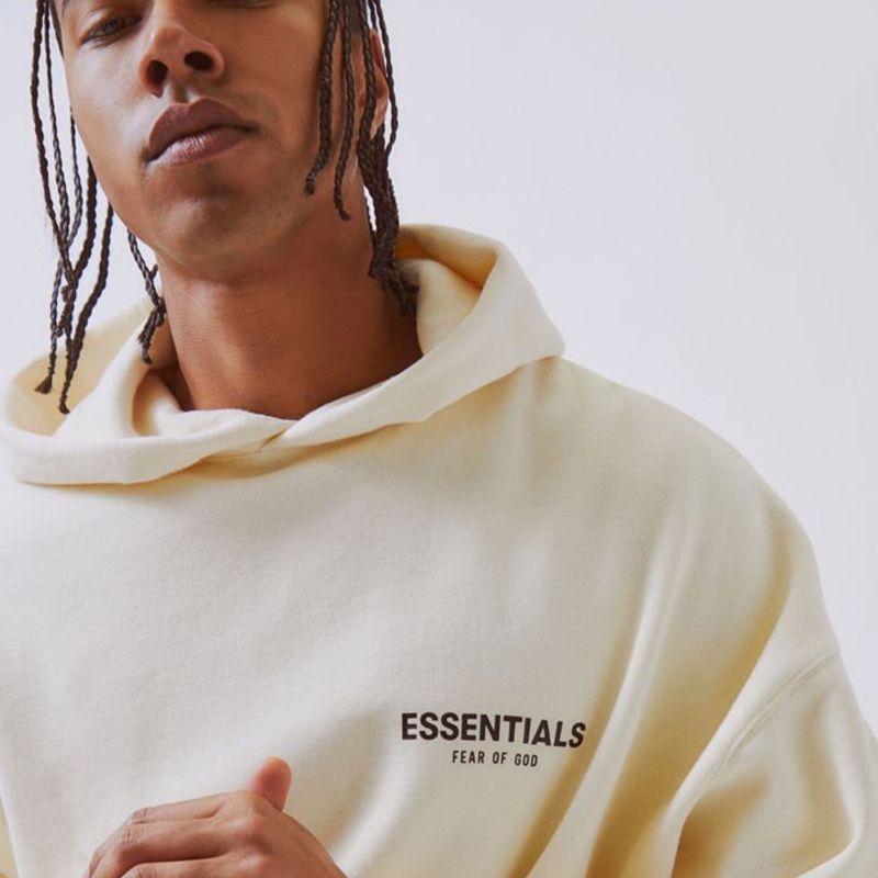 Manera- DE DIOS Pareja Esencial Pullover sudaderas Justin Bieber BOXY foto impresa Moda con capucha casuales de la calle Outwear HFLSWY300