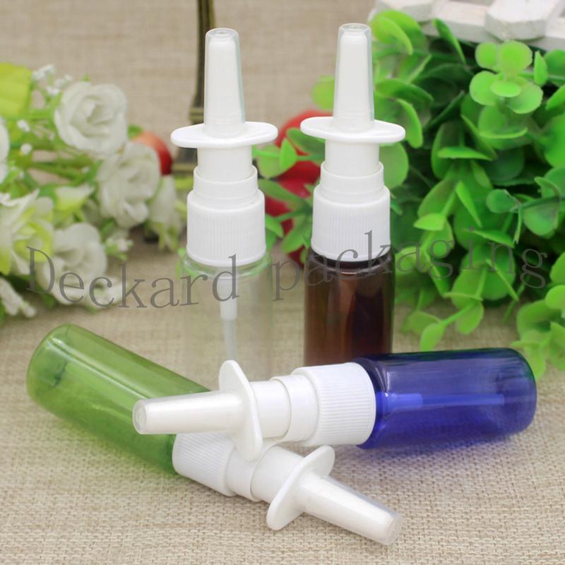 100pcs 15ml Medical Garrafa de Spray Nasal com pulverizador Limpar Névoa Medicina Líquido Contentores 15ml garrafas vazias de plástico