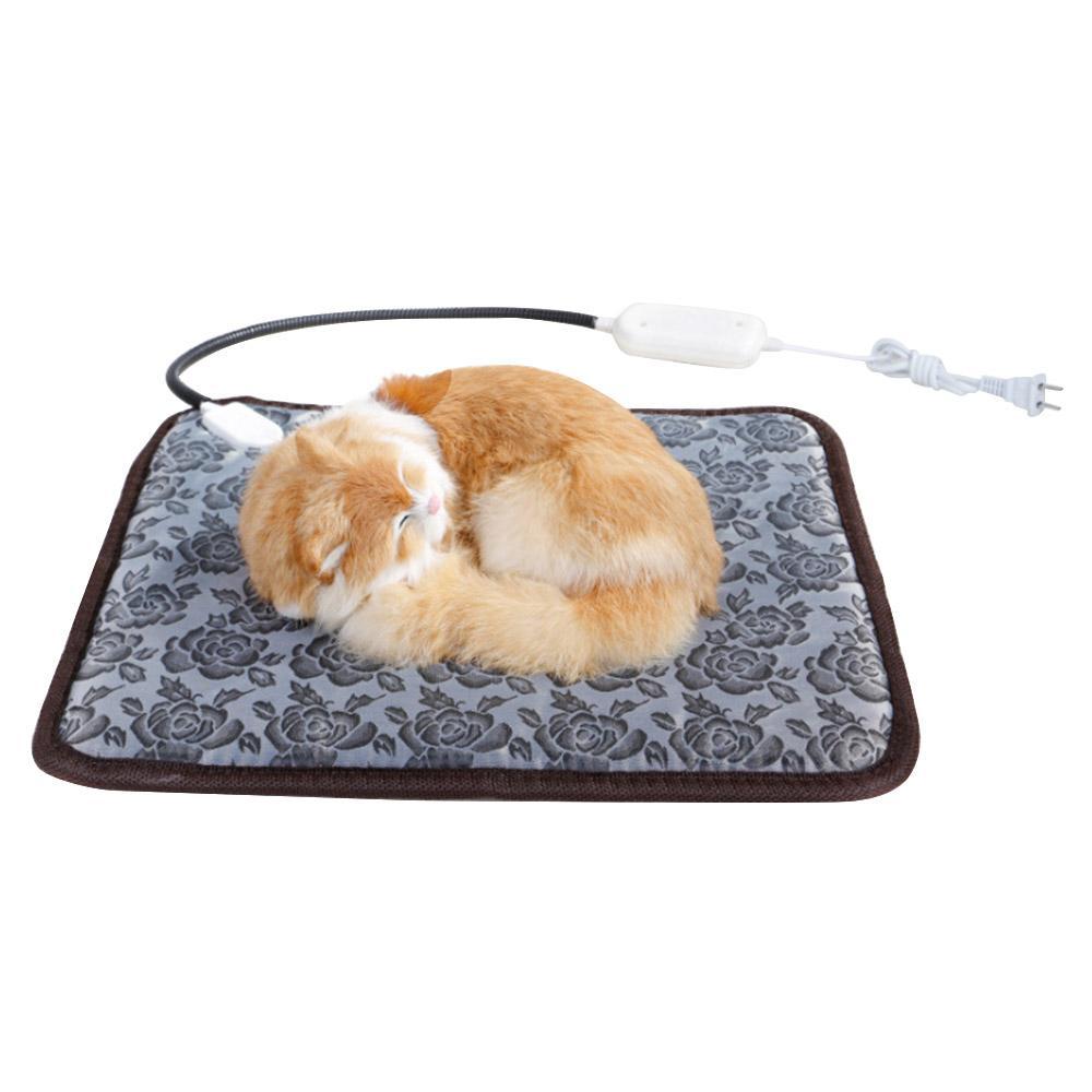 110V 애완 동물 개 고양이 방수 전기 난방 패드 본체 겨울 따뜻한 매트 침대 담요 동물 히터 액세서리 침대