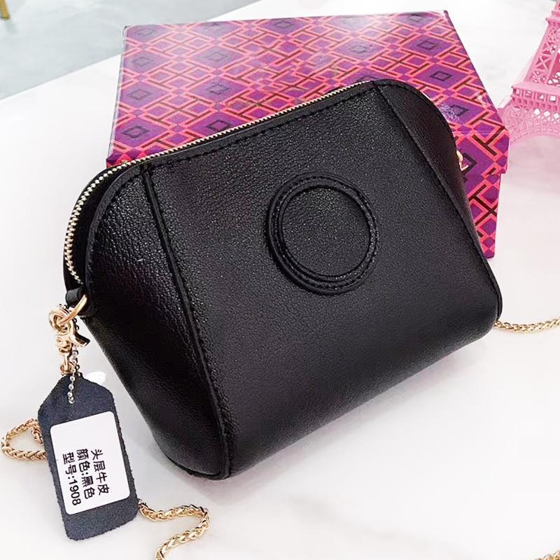 Kadınlar İnek Deri Zincir Çanta Tasarımcı çanta 7color 2019 Marka Moda Çanta Tasarımcısı Hediye Kutusu için Çantalar