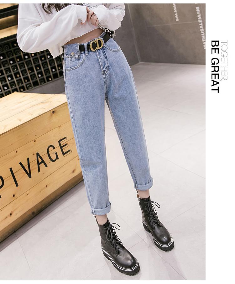 Göl Mavi Kadınlar'S Uyarlanmi Bel Ve Kalça Prenses Jeans Bk2443