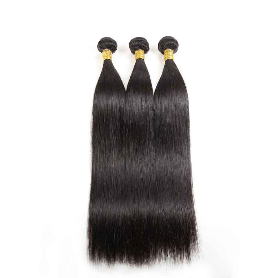 Unprocessed Virgin Hair Straight Human Hair Wefts 3 Bundles Cheap Malaysian Straight Hair Weaves Natural Color